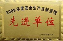 2009年度安全生产目标管理先进单位