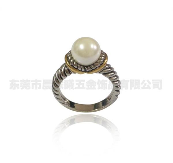 仿珍珠戒指001-jz01