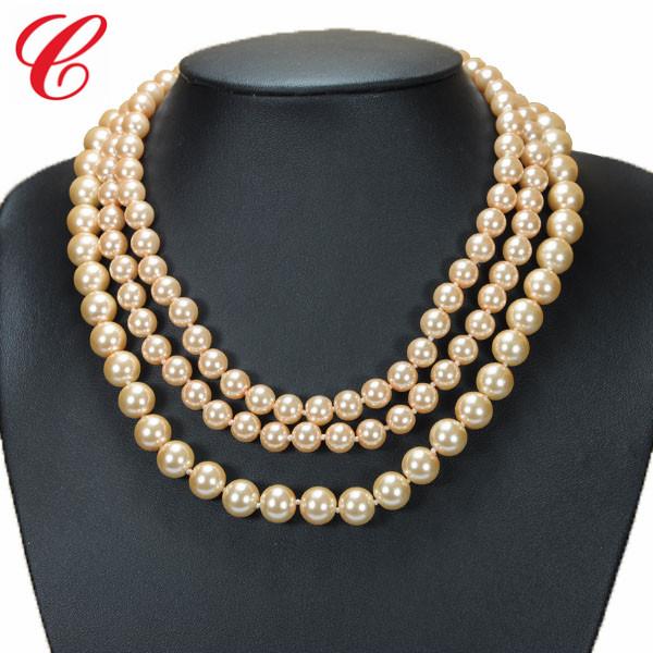 仿珍珠饰品项链-09