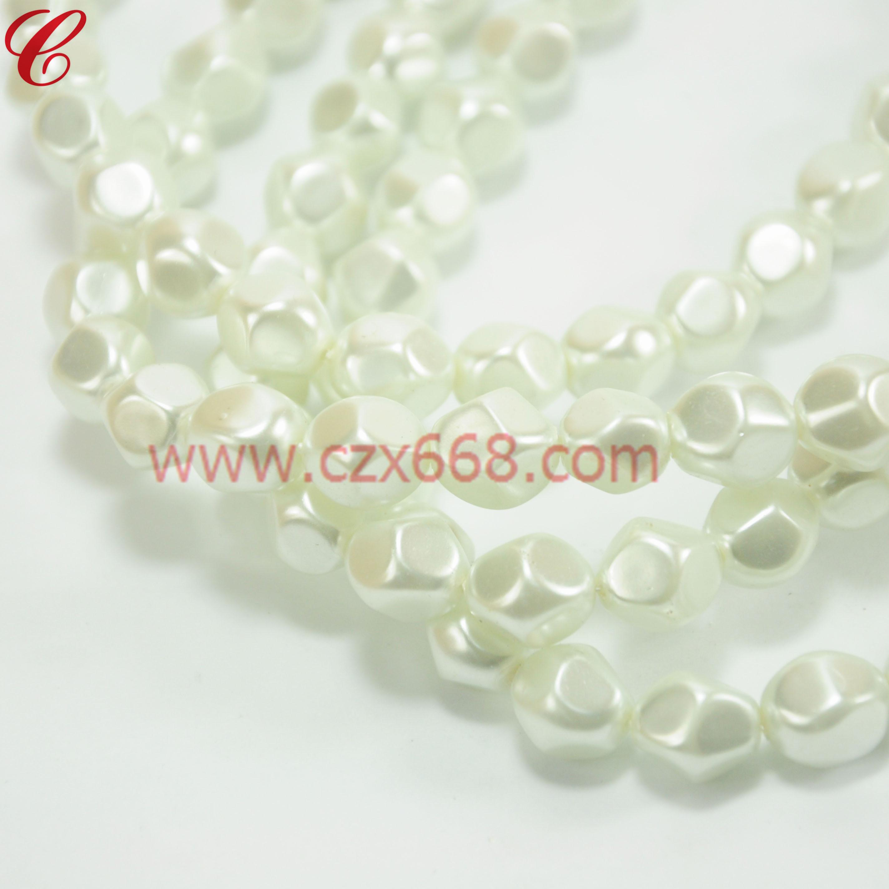 玻璃仿珍珠异形珠-09