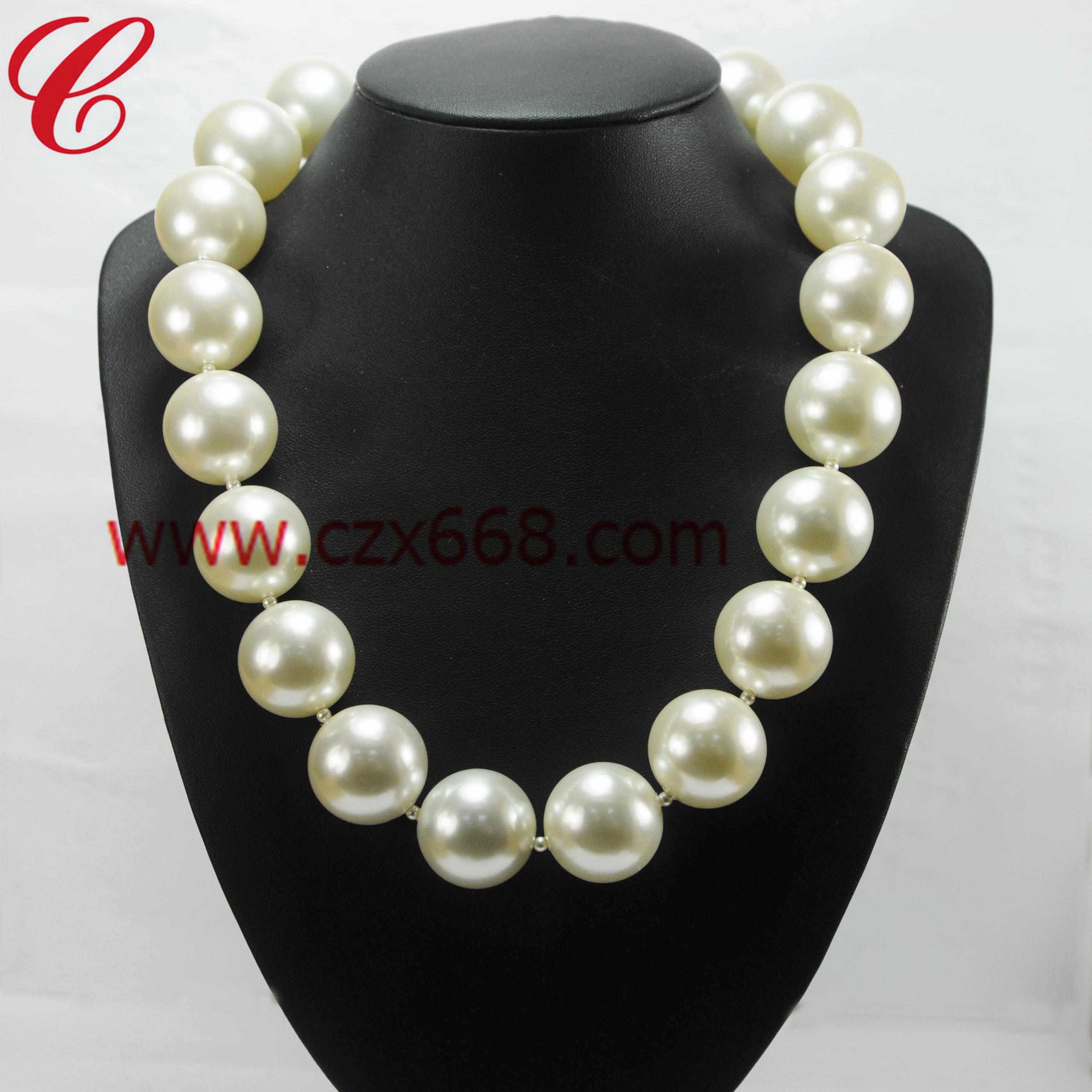 仿珍珠饰品项链-22