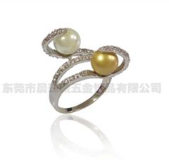 仿珍珠戒指002-jz02