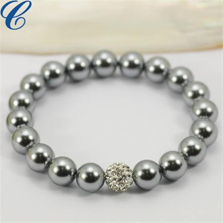 玻璃仿珍珠项链-10
