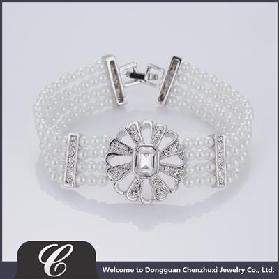 玻璃仿珍珠手链 CZXB0004