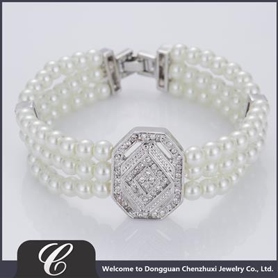 玻璃仿珍珠手链CZXB0005