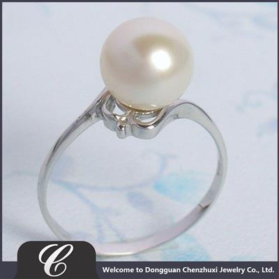 饰品戒指 塑料仿珍珠戒指