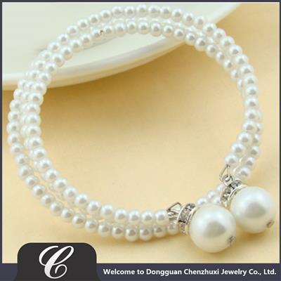新款仿珍珠手链玻璃珍珠手环