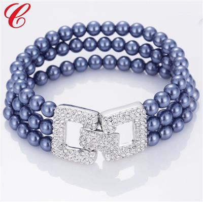 仿珍珠饰品手链-08