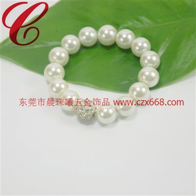 仿珍珠饰品手链-14