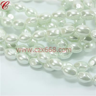 玻璃仿珍珠异形珠-08