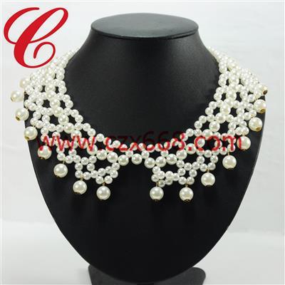 仿珍珠饰品项链-26
